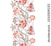 seamless background with floral ... | Shutterstock . vector #1010509252