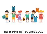 group of kids with nicely... | Shutterstock .eps vector #1010511202