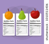 fruits healthy food nutrition... | Shutterstock .eps vector #1010511406