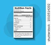 nutrition facts food... | Shutterstock .eps vector #1010514202