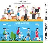 job stress and ourdoor ways of...   Shutterstock . vector #1010522275
