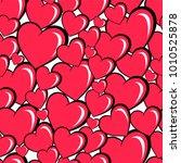 seamless pattern of cartoon... | Shutterstock .eps vector #1010525878