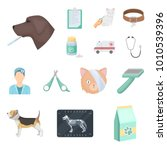 veterinary clinic cartoon icons ... | Shutterstock .eps vector #1010539396