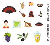 spain country cartoon icons in...   Shutterstock .eps vector #1010540476