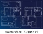 interior blueprint plan | Shutterstock .eps vector #10105414