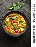 karnataka curry dish  delicious ... | Shutterstock . vector #1010542732