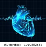 vector isolated heart. low poly ... | Shutterstock .eps vector #1010552656