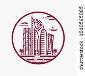 qatar city tower logo design... | Shutterstock .eps vector #1010565085