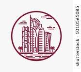 qatar city tower logo design... | Shutterstock .eps vector #1010565085