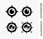 camping logo design  compass... | Shutterstock .eps vector #1010566528
