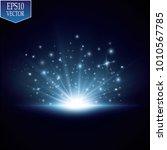 glow light effect. starburst... | Shutterstock .eps vector #1010567785