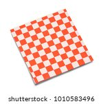 red and white checkered napkin... | Shutterstock . vector #1010583496
