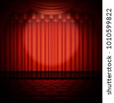 spotlight on stage and red... | Shutterstock .eps vector #1010599822