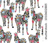 abstract hand painted animals... | Shutterstock .eps vector #1010602885
