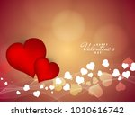 abstract happy valentine's day... | Shutterstock .eps vector #1010616742