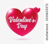 2018 happy valentine's day... | Shutterstock .eps vector #1010623372