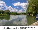 river thames near lechlade.... | Shutterstock . vector #1010628232