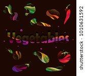 vegetable set. vector. corn ...   Shutterstock .eps vector #1010631592