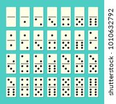 domino full set with shadows.... | Shutterstock . vector #1010632792
