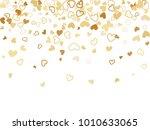 gold valentine's day scatter of ...   Shutterstock .eps vector #1010633065