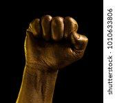 golden hands and gestures on a... | Shutterstock . vector #1010633806