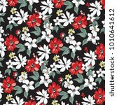 floral pattern in vector | Shutterstock .eps vector #1010641612