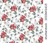 ditsy floral background.... | Shutterstock .eps vector #1010641615