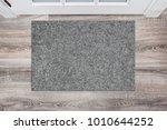 blank grey woolen doormat... | Shutterstock . vector #1010644252