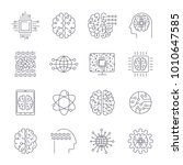 icons in contour  thin and...   Shutterstock .eps vector #1010647585
