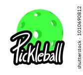 pickleball symbol design | Shutterstock .eps vector #1010690812