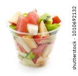 Fresh Fruit Pieces Salad In...