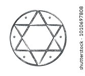 vector magical symbol  hexagram ... | Shutterstock .eps vector #1010697808