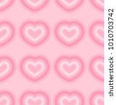 neon heart pattern vector  | Shutterstock .eps vector #1010703742
