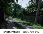 old street in village  green... | Shutterstock . vector #1010706142