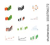 financial graph icon collection ... | Shutterstock .eps vector #1010706172