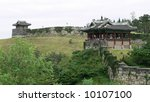 Suwon Hwaseong Fortress, South Korea - stock photo