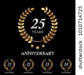 21   22   23   24   25 years... | Shutterstock .eps vector #1010714725