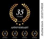 31   32   33   34   35 years... | Shutterstock .eps vector #1010714818