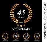 41   42   43   44   45 years... | Shutterstock .eps vector #1010715058