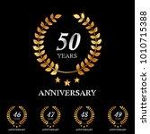 46   47   48   49   50 years... | Shutterstock .eps vector #1010715388