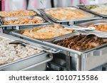 catering wedding buffet for... | Shutterstock . vector #1010715586