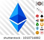 ethereum lite pictograph with... | Shutterstock .eps vector #1010716882