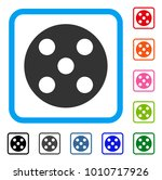 round dice icon. flat grey...