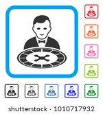 roulette dealer icon. flat grey ... | Shutterstock .eps vector #1010717932