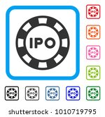 ipo token icon. flat gray...