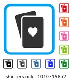 hearts playing cards icon. flat ... | Shutterstock .eps vector #1010719852