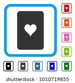 hearts playing card icon. flat...
