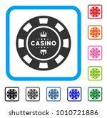 royal casino chip icon. flat...
