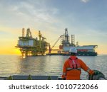 oil and gas industry. marine... | Shutterstock . vector #1010722066