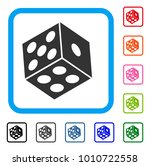 dice icon. flat gray iconic... | Shutterstock .eps vector #1010722558